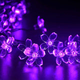 Christmas Lights Outdoor 21ft 50 LED Solar String Lights Flower Garden Light Blossom Lighting for Home Wedding Party Decoration