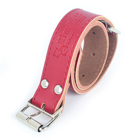 2017 New High Quality PU Leather Adjustable Dog Collar Stainless Steel Puppy Collar Pet Supplies Collars for Small Dogs Cats