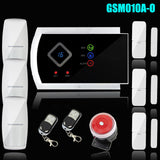 Voice prompt Wireless/Wired SMS GSM Alarm System Home auto security Systems with PIR/Door Alarm Sensor APP control device kit