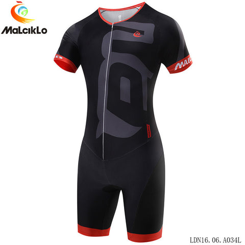 Hot Summer cycling jersey Short Sleeve Cycling Skinsuit  Unisex Triathlon invisible zipper tights conjoined cycling jumpsuits