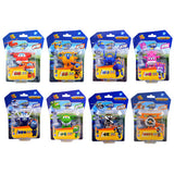 8PCS/Set AULDEY Super Wings Mini Airplane ABS Robot toys Action Figures Super Wing Transformation Jet Cartoon Children Kids Gift