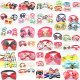120pcs Mix loaded !! Handmade Fashion Pet Dog Tie Grooming Bowknot Ties For Dogs 6011008 Pet Accessories Wholesale