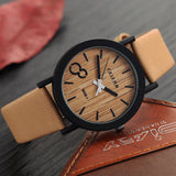 Simulation Wooden Relojes Quartz Men Watches Casual Wooden Color Leather Strap Watch Wood Male Wristwatch Relogio Masculino