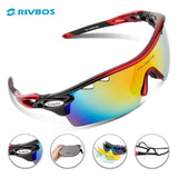 RIVBOS Oculos Ciclismo Cycling Tactical Glasses Men Women Gafas Ciclismo Bicycle Bike Sports Cycling Sunglasses Eyewear RB0801
