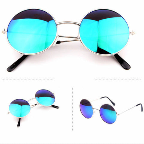 Fashion Round Sunglasses Men Women Vintage Circle Male Female Gold Sun Glasses For Women Men Brand Designer Mirror Goggles