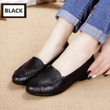 MUYANG MIE MIE Spring And Autumn Women Flats 2017 Fashion Genuine Leather Flat Shoes Woman Soft Casual Loafers Women Shoes