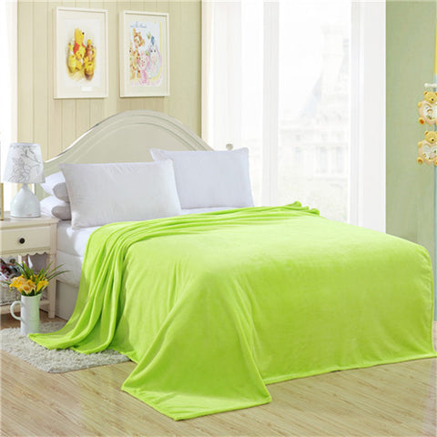 Home textile fleece blanket summer solid color super warm soft blankets throw on sofa/bed/ travel plaids bedspreads sheets