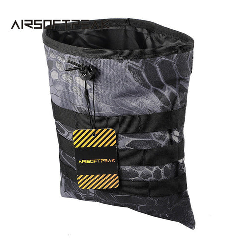 AIRSOFTPEAK Military Molle Dump Drop Pouch Magazine Utility Pouch Tactical Utility Bag Paintball Vest Accessory Recovery Bags