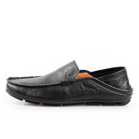 Plus Size 45 46 100% Genuine Leather Men Loafers,Comfortable Casual Shoes Men, Fashion Men Shoes Driving High Quality Flat Shoes