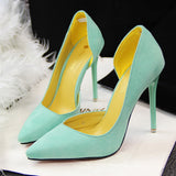 Women Pumps Fashion Sexy High Heels Shoes Women Pointed Toe Thin Heel Ladies Wedding Shoes Black Pink