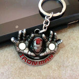 The avengers  ironman Deadpool keychain ring toy set 2016 New Superhero Spiderman Captain America shield helmet party decoration