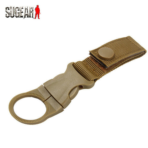 Military Multifunctional High Strength Nylon Molle Webbing Water Bottle Carabiner Belt Buckle Hanging Keychain Backpack Key Hook