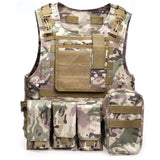 Tactical Hunting Vest Military Molle Men Male Plate Carrier Module For Airsoft Shooting Gun Black Camouflage With Many Pockets