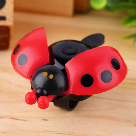 Hot ! Lovely Kid Beetle Ladybug Ring bicycle Bell For Cycling Bicycle Bike Ride Horn Alarm bike trumpet horn WHolesale