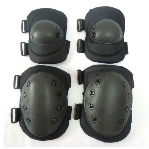 4 Pcs Adult Tactical Combat Protective Pad Set Gear Sports Military Knee Elbow Protector Elbow & Knee Pads