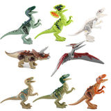 Bela 8pcs/lot Dinosaurs Of Jurassic World Building Blocks Mini Bricks Figures Kids Baby Toys Juguetes Compatible with legoeINGly