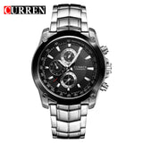 New CURREN Watch Men Luxury Brand Full Steel Business Quartz Watch Men Casual Quartz-watch Relogio Masculino CLock Male Japan