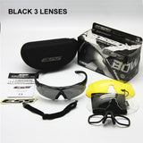 ESS Crossbow Polarized Military Cycling Sunglasses 3, 4 or 5 Lens Kit Ballistic UV400 Night Vision Army Goggles Eyeshield