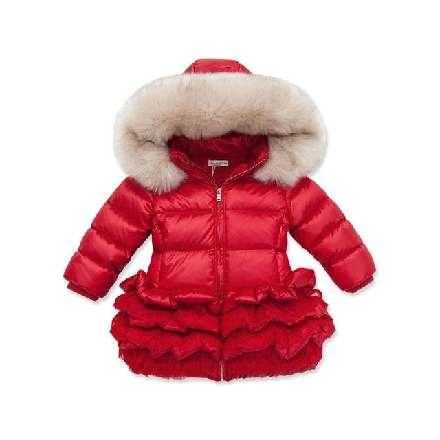 e2bce199a735 DB3390 dave bella winter infant coat baby down padded coat girls white duck  down feather coat