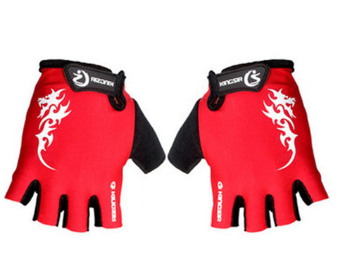 1 Pair Outdoor Sport Gloves Summer Cycling Bike Bicycle Riding Gym Fitness Half Finger Gloves Shockproof Mittens M/L/XL
