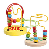 Early Childhood Learning Toy Children Kids Baby Colorful Wooden Mini Around Beads Educational Toy Kids Gift Wood Toy Blocks