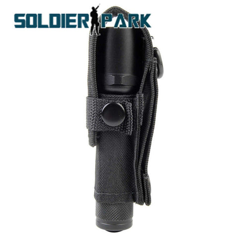Tactical Molle Led Flashlight Pouch Outdoor Sports Camping Gear Portable Torch Bag Military Waist Pack Tool Light Holder to Belt
