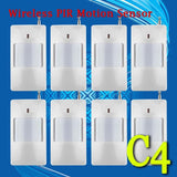 Free Shipping!8 Pcs/lot 433Mhz Wireless PIR Sensor/Motion Detector For Wireless GSM/PSTN AutoDial Home Security Alarm System