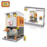 LOZ 8 Styles Mini Street Architecture Model Mini Blocks Street Scene Children DIY Toy For Ages 6+