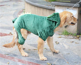 5 Color Pet Dog Clothes For Golden Retriever Big Dogs Winter Coat Jacket Change Outfit Clothing Sportswear Hoodies 3XL-9XL Size