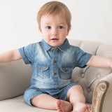 Summer New Arrival Cowboy Baby Boys Clothing Fashion Design Lovely Romper Comfortable Bebe Girls Clothes