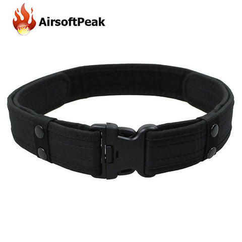 2 Inch Military Tactical Belt Adjustable Airsoft Waistband Outdoor Sport Field Belts Hunting Accessories Deputy Fastening Tape $