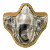 Outdoor Tactical Ghost Mesh Airsoft Mask Paintball Half Face Protection Strike Style