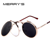 MERRY'S VINTAGE STEAMPUNK Sunglasses round Designer steam punk Metal Women Coating Sunglasses Retro CIRCLE SUN GLASSES