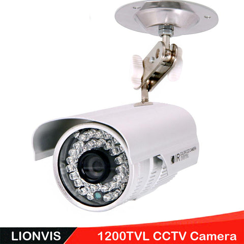 Security Camera 1/3'' SONY CMOS 1200TVL 36 LED Color IR Night Vision Surveillance CCTV Camera Home Outdoor Video Camera