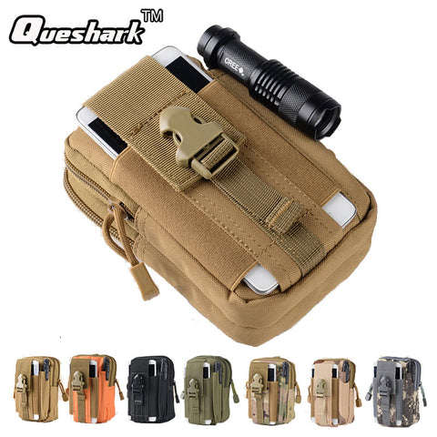 Outdoor Sport Camousflage Running Waist Bag Molle Military Tactical Waist Fanny Backpack For 5.5/6 inch Mobile Phone Coin Purse