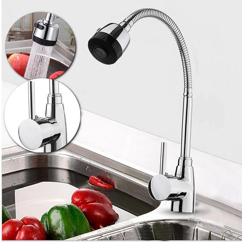 New Zinc Alloy 360 Degree Rotatable Faucet High Quality Hot Cold Mixer Tap Kitchen Wash Basin Faucets Useful Home Kitchen Tools