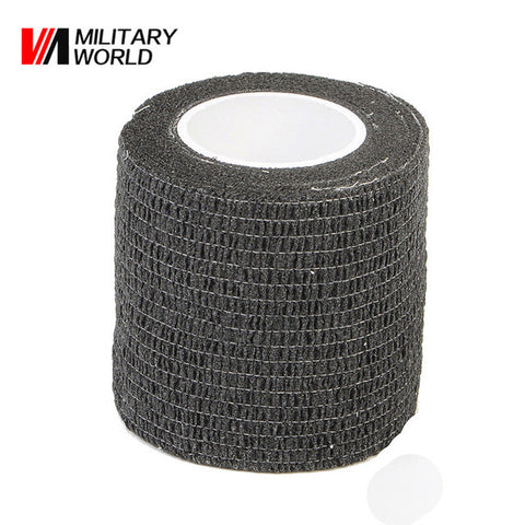 4.5m 1 Roll Military Camouflage Tape Tactical Camo Stretch Bandage Paintball Self Adhesive Tapes Hunting Camping Travel Kits