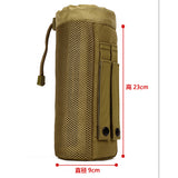 Protector Outdoor Tactical Water Bottle Pouch Military Molle Pack Camouflage Gear Waist Back Plus Pack for Sport Camping Hiking