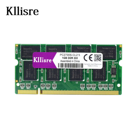 Kllisre DDR1 1GB ram PC2700 DDR333 200Pin Sodimm Laptop Memory DDR 1GB