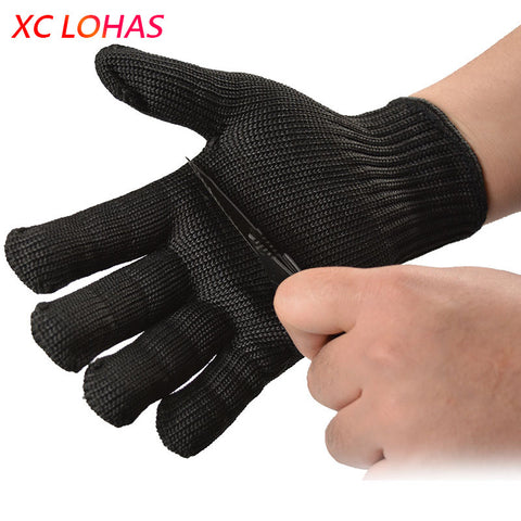 Practical 5 Grade Anti Cut Stainless Steel Gloves for Fishing Hunting Full Finger Military Tactical Gloves Fishing Accessories