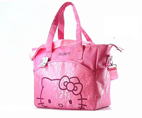 31*37*14 cm Canvas Baby Diaper Bag For Mom Mummy Mother Hello Kitty Maternity Nappy Bags Thermal Insulation Stroller Bag