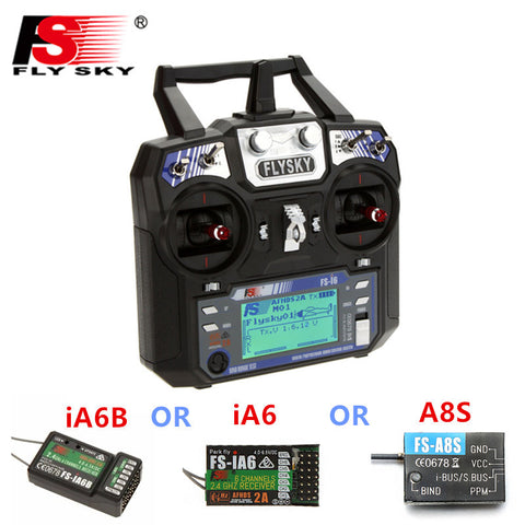 In Stock  FlySky FS-i6 FS I6 2.4G 6CH AFHDS RC Transmitter Controller iA6B A8S iA6 Receiver For RC Helicopter Quadcopter