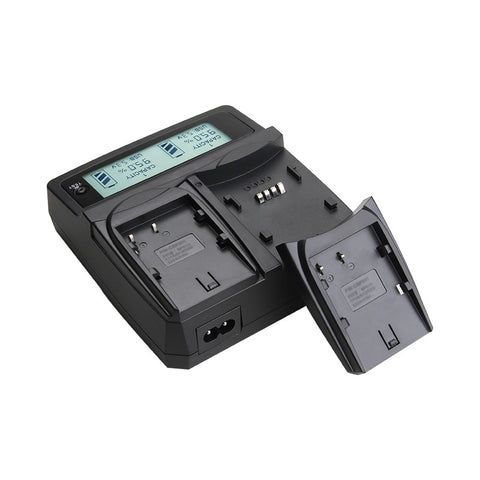 NP FM50 NPFM50 Battery Camera Charger For Sony FM50 QM71 QM91 QM71D QM91D F550 F750 F960 F570 F770 F970 VBD1 With LCD Display