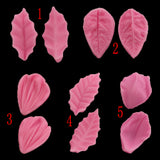 Diy Leaves Resin Silicone Cake Decorative Molds Lobular Model Design Clip Candy Cake Decorative Tools Kitchen Baking Fondant