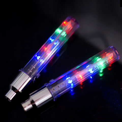 2PCS Bike Light within Battery Mountain Road Bike Bicycle Lights LEDS Tyre Tire Valve Caps Wheel spokes LED Light