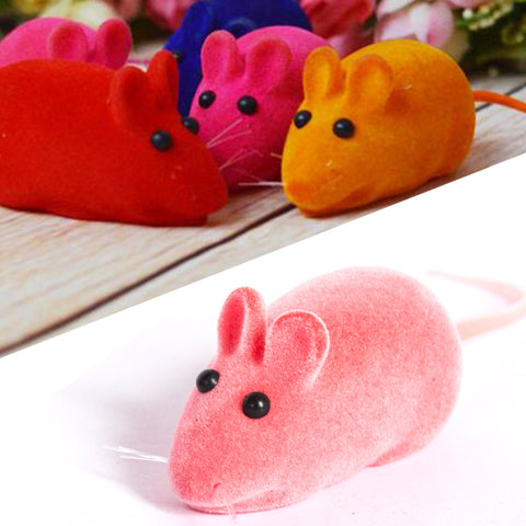 Interesting Lovely Squeaky Simulation Mouse Sound Toy Dog Cat Kitten Chew Toys Random Color