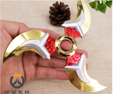 GENJI Weapons Game Spinner Cosplay GENJI Shurikens Darts Zinc Rotated Alloy Collection Model Toys Kids Gifts Action Figure
