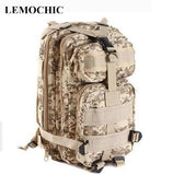 LEMOCHIC High Outdoor male military camouflage tactical motorcycle denim school graffiti trekking backpack travel hiking 3P bag