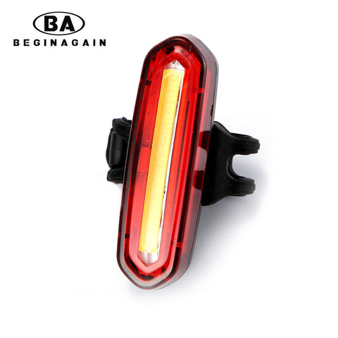 BEGINAGAIN New Bicycle USB Rechargeable LED Light Bike Front / Rear Light Outdoor Cycling Warning Lamp Night Safety Taillight