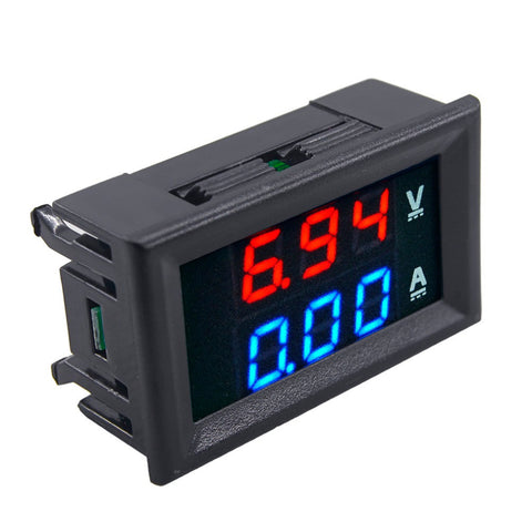 1pcs Professional DC 100V 10A Voltmeter Ammeter Blue + Red LED Amp Dual Digital Volt Meter Gauge Voltage Current Home Use Tool